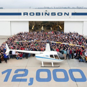 Robinson delivers 12,000th helicopter
