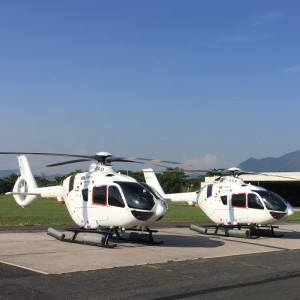 H135 equipped with the Helionix to Mainichi Shimbun