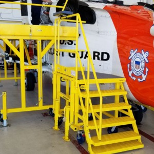 SAFE delivers fire suppression bottle check stand to USCG