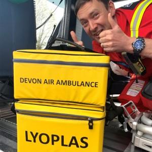 Devon Air Ambulance starts carrying freeze-dried plasma