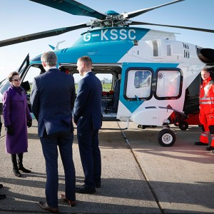 Air Ambulance Kent Surrey Sussex marks 30 years with royal visitor