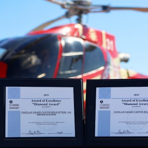 Papillon Grand Canyon Helicopters receives two FAA Diamond Awards