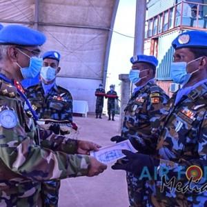 Sri Lanka Aviation Unit in South Sudan Receive UN Medals