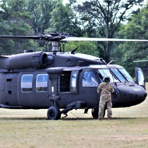 Wisconsin National Guard UH-60 Black Hawk aircrews hold training at Fort McCoy