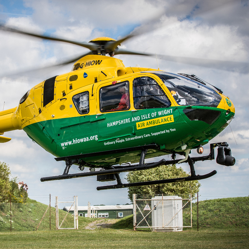 Hampshire and IOW Air Ambulance completes 10,000thheli mission