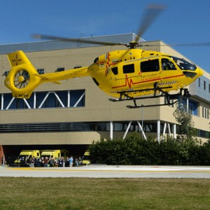 First flight lands at Ipswich helipad