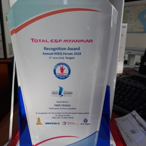 Heli-Union received recognition award