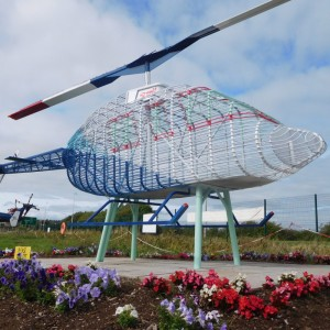 Iconic Helicopter Sculpture Restored by Helicopter Museum