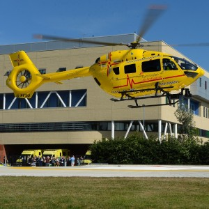 Ipswich Hospital helipad marks first anniversary