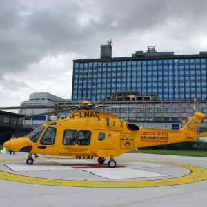 The first landing on a new helipad in Hull