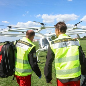 First use of manned multicopter in rescue operations staged