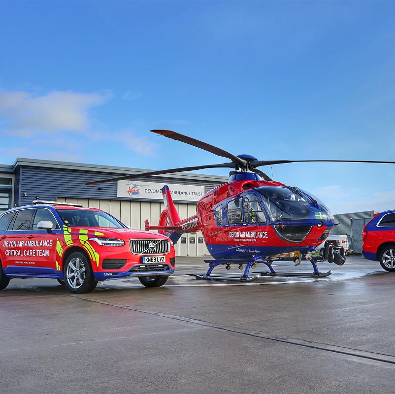 Devon Air Ambulance reports busy first half of 2021