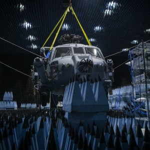 HH-60W enters chamber for defense systems testing