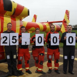 25,000 missions for Essex & Herts Air Ambulance