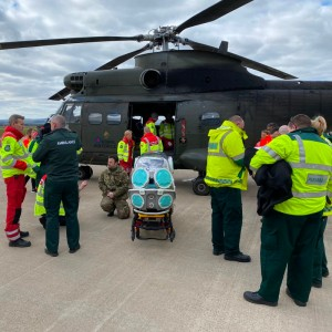 RAF Helicopters Support Scottish Ambulance Service Trials