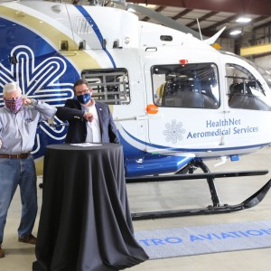Metro Aviation delivers first of two helicopters to HealthNet
