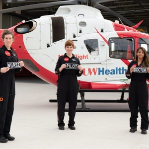 UW Health Med Flight's first all-woman crew makes history