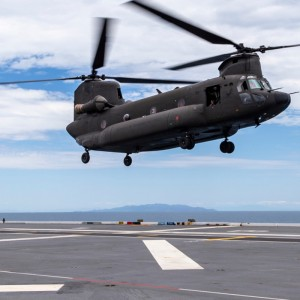 Royal Singapore AF lands Chinook on Australian Navy ship for first time