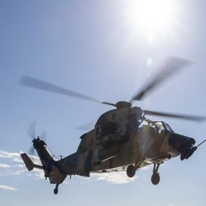 Australian Army helicopter crews train for ship landings