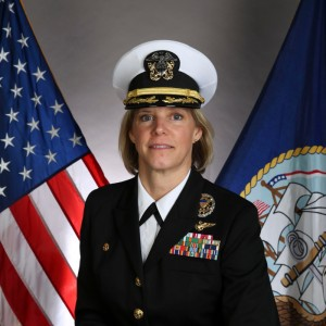 Helicopter pilot becomes first ever female commander of a US Navy aircraft carrier