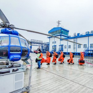 Gazprom Neft commissions a new heliport in the Arctic