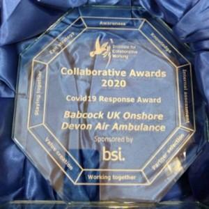 Innovative partnership between Devon Air Ambulance and Babcock scoops national award