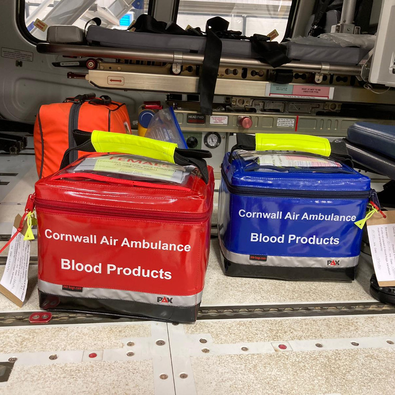 Cornwall Air Ambulance now carries blood products