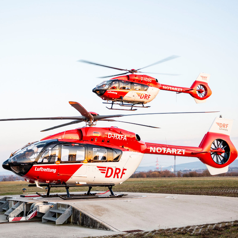 DRF puts first five-blade H145 into service
