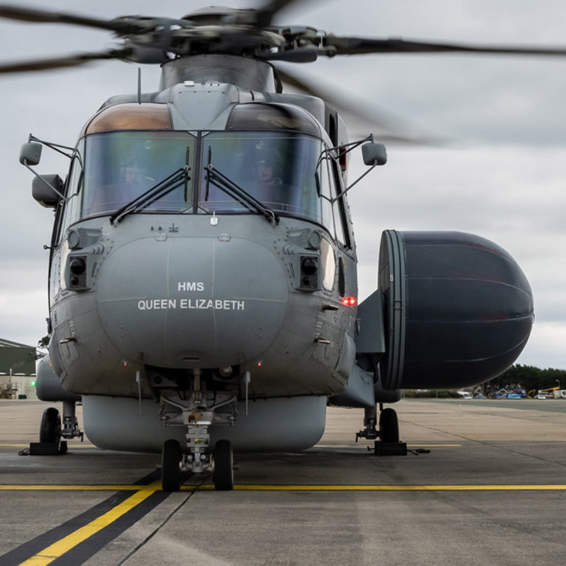 "New ""Crowsnest"" AEW AW101 ready for Royal Navy service"