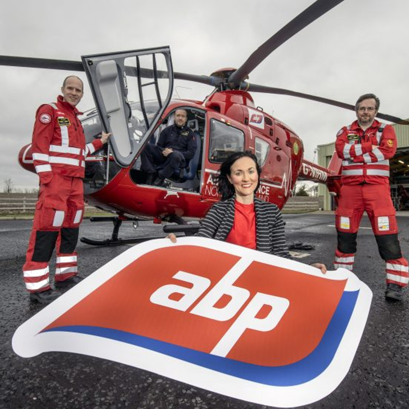 Air Ambulance NI announce sponsorship deal with ABP
