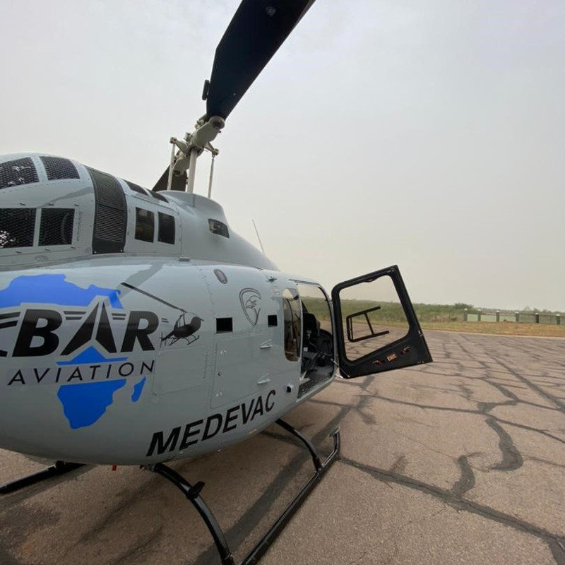 Bell delivers first 505 to Uganda