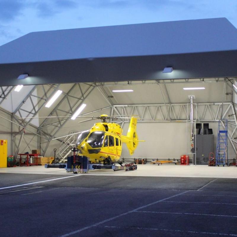 East Anglian Air Ambulance adds hangar at Cambridge