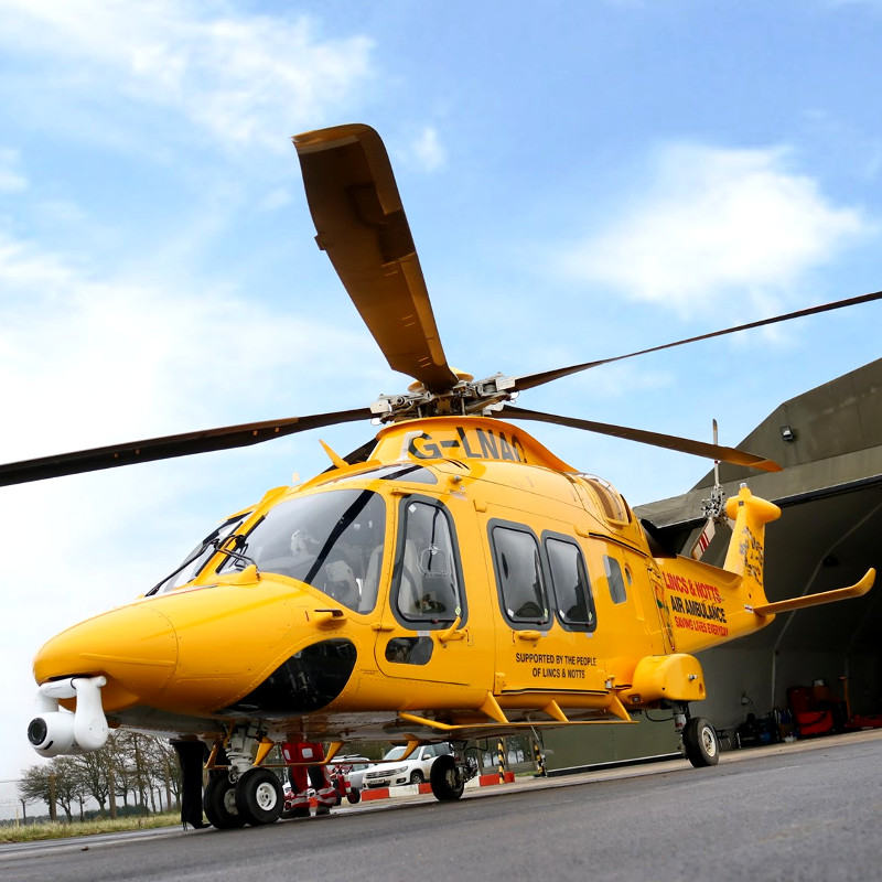 Lincs & Notts Air Ambulance receives keys to new HQ