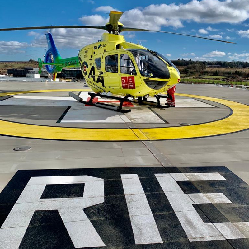 New helipad launched at Royal Infirmary Edinburgh