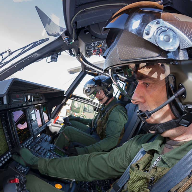 Thales TopOwl helmet picked for Special Ops NH90