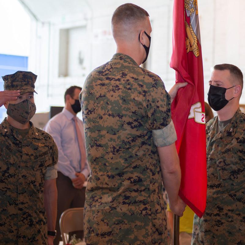 V-22 program holds change of command ceremony