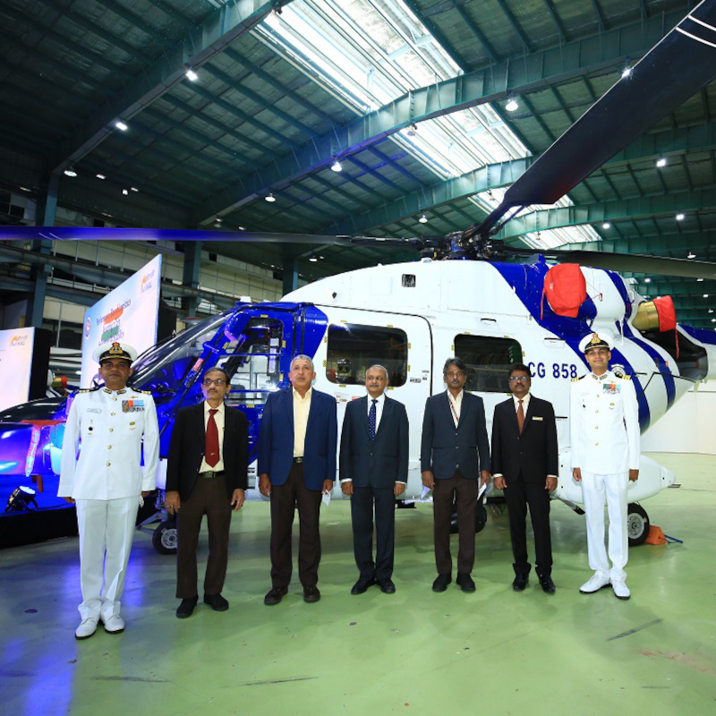 Indian Coast Guard receives three Dhruv Mk.III helicopters