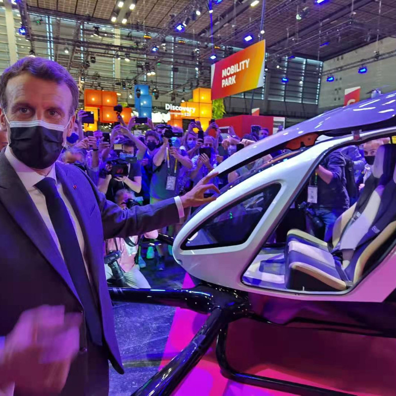 EHang debuts at the VivaTech 2021 conference in Paris