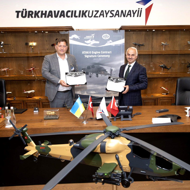 TAI buys 14 engines from Motor Sich for ATAK-II helicopter