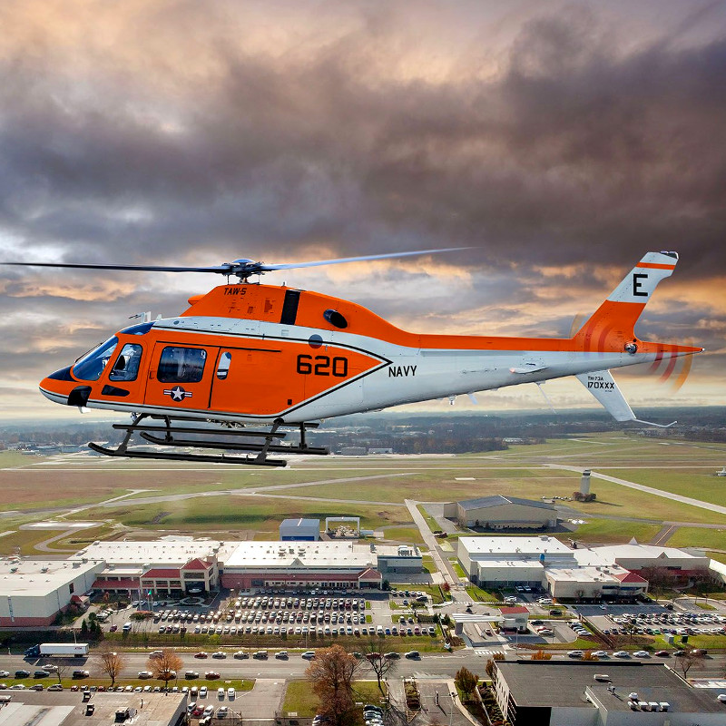 Leonardo delivers first TH-73A trainer to US Navy