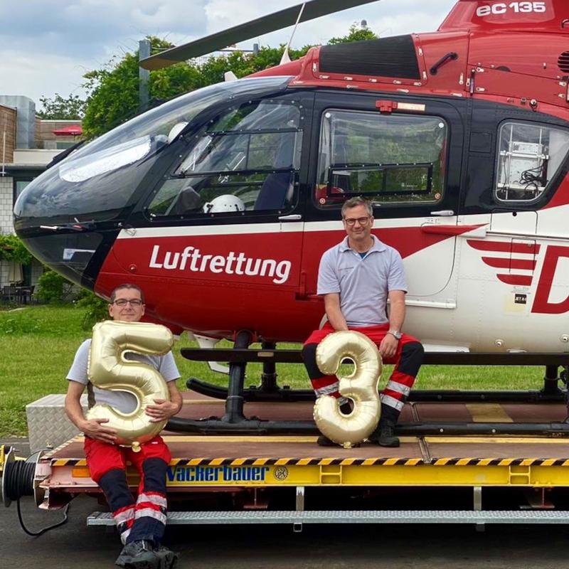 DRF celebrates 35 years of Christoph 53 base at Mannheim