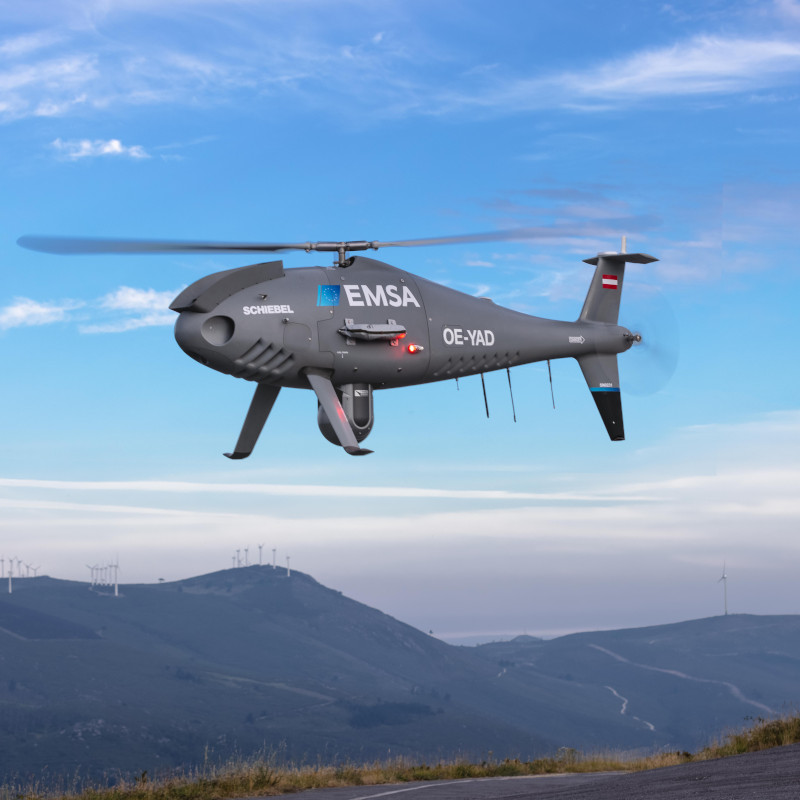 Schiebel Camcopter® S-100 Enhances Maritime surveillance in Spain with EMSA