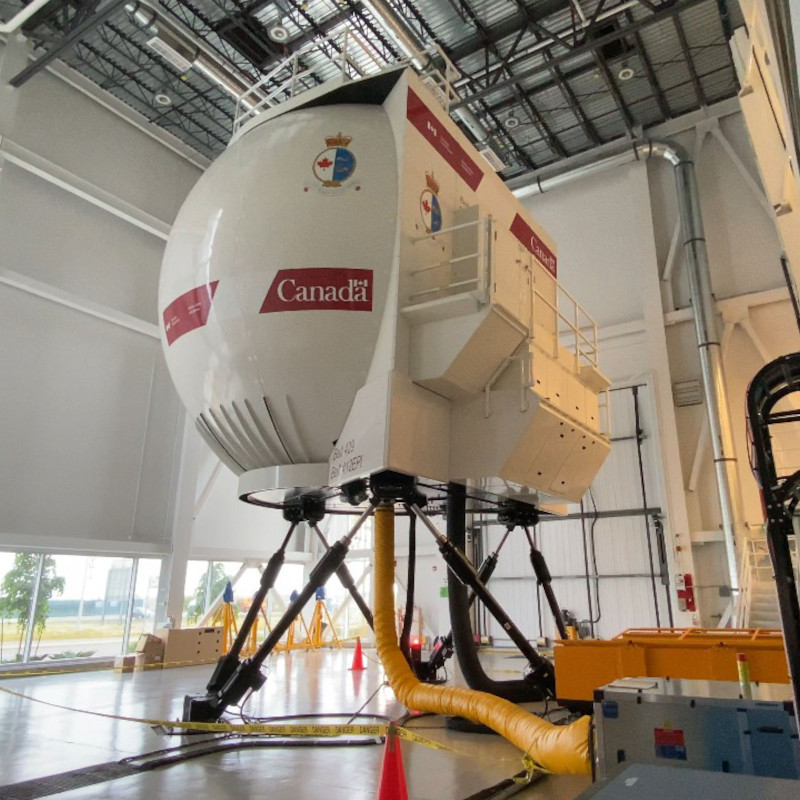 Canadian CG accepts switchable simulator for Bell 412 and 429