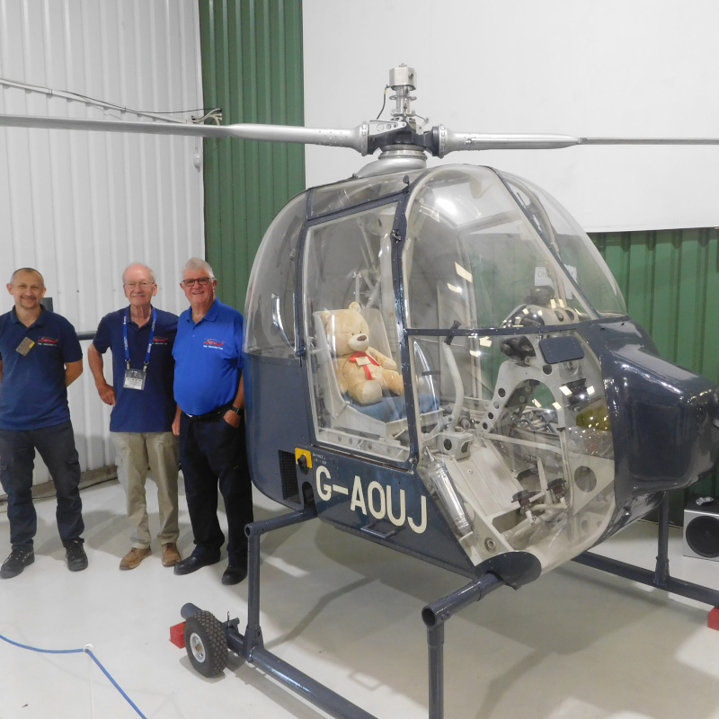 10 year restoration completed of Fairey Ultra Light helicopter