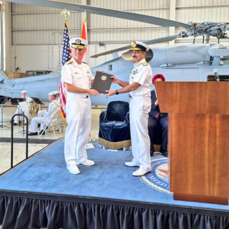 Indian Navy accept first two of 24 MH-60R helicopters