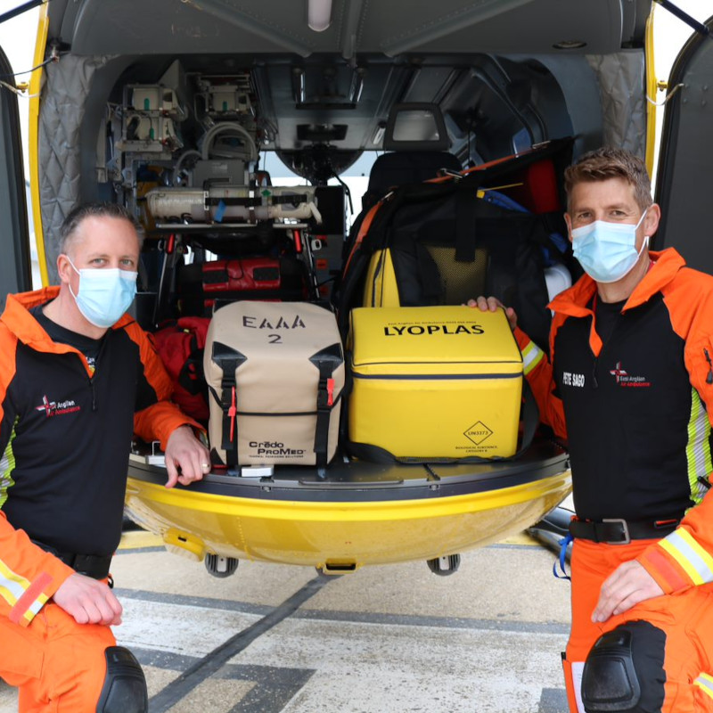 Blood is now available on every EAAA air ambulance
