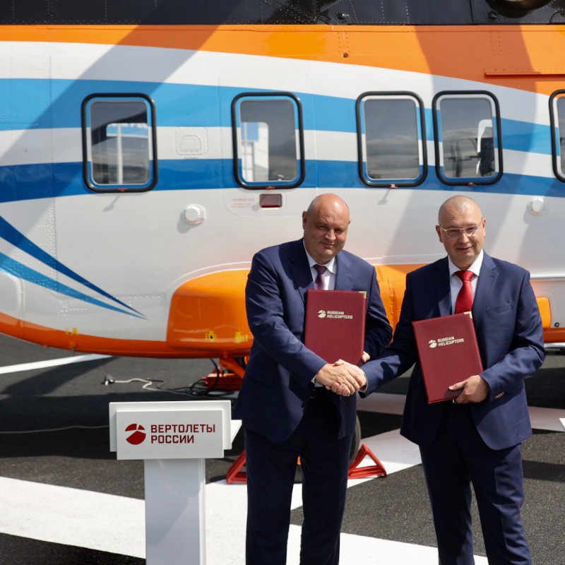 Helix Airlines signs for both Mi-8MTV and Ansat helicopters