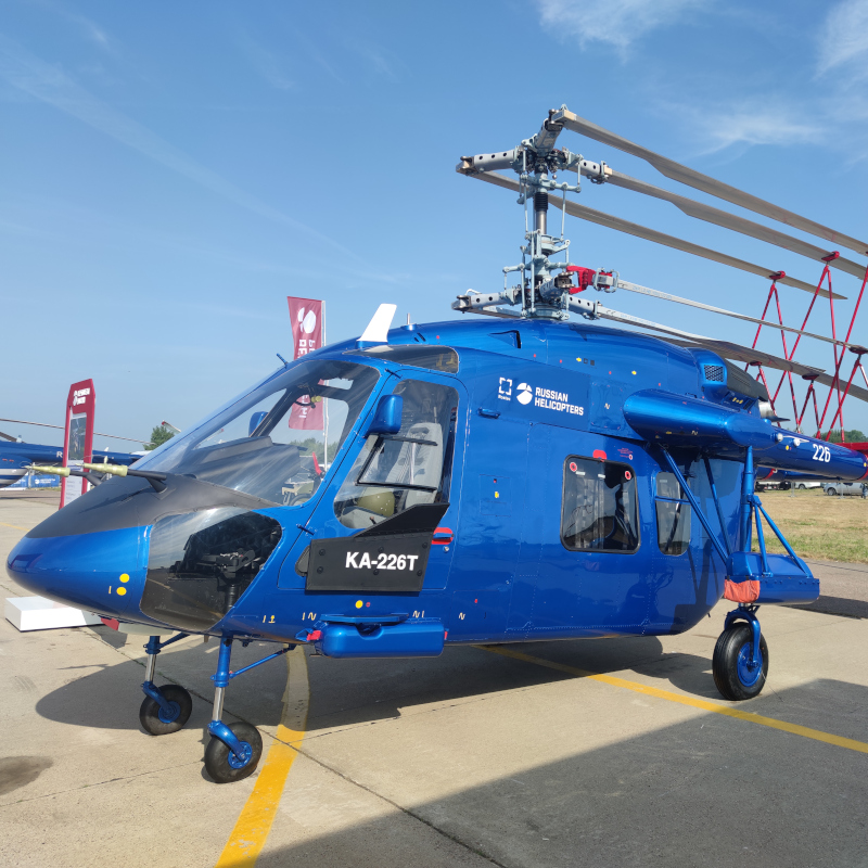 Russian Helicopters presented a new modification of the Ka-226T at MAKS-2021