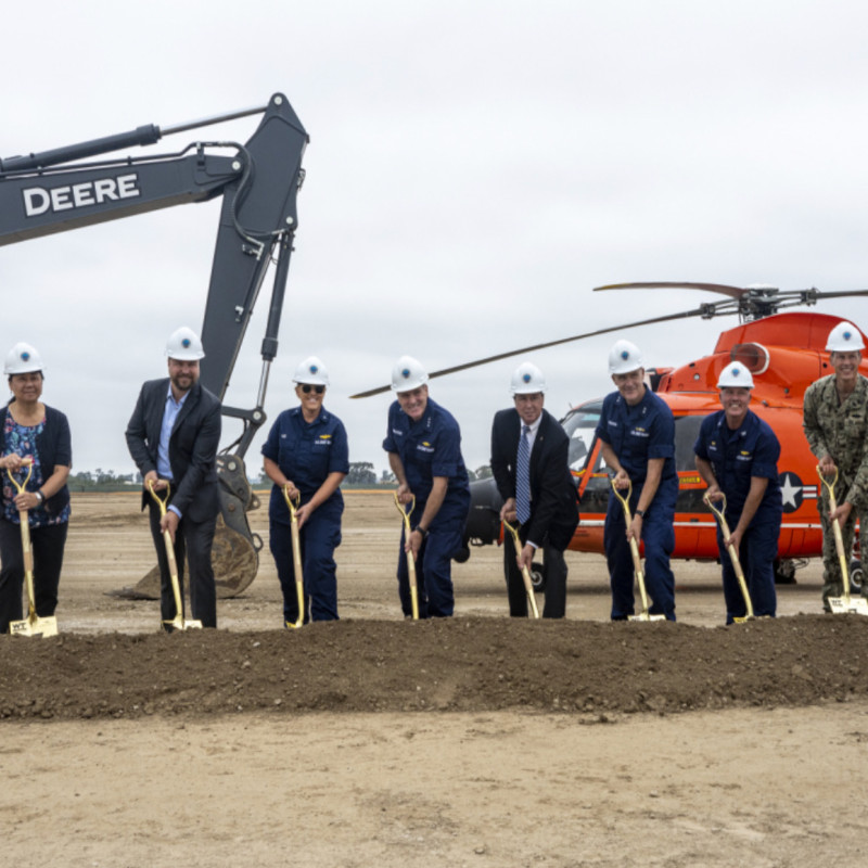 US Coast Guard breaks ground on new air station in Ventura