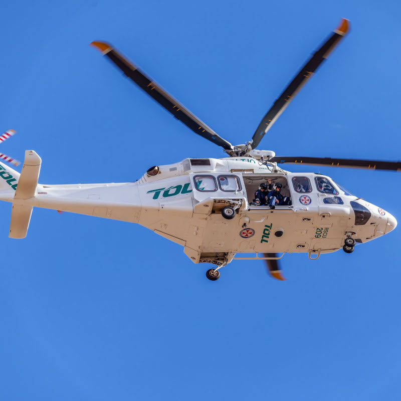 The Toll Ambulance Rescue Helicopter Service reaches the 20,000 hours milestone